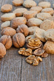Nuts biscuits Stock Photo