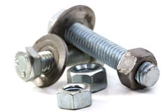 Nuts and bolts. Over white background Royalty Free Stock Image