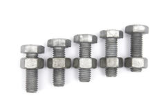 Nuts & bolts. Nuts and Bolts on a white background Stock Photo