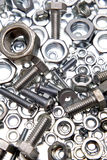 Nuts and bolts Royalty Free Stock Images