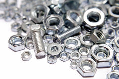 Nuts and bolts Stock Image
