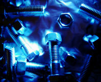Nuts and bolts background 2 Royalty Free Stock Photos