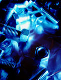 Nuts and bolts background Royalty Free Stock Photography