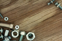 Nuts and Bolts Background Series Stock Photography