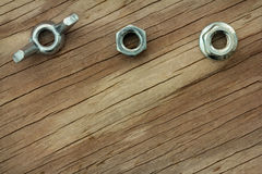 Nuts and Bolts Background Series Stock Photo