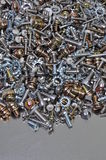 Nuts and bolts components Stock Photography