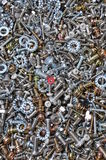 Nuts and bolts components for mounting Stock Photography
