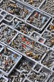 Nuts and bolts components for mounting Royalty Free Stock Image