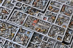 Nuts and bolts components for mounting Royalty Free Stock Photography