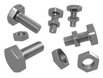 Nuts and Bolts_Raster Royalty Free Stock Photo