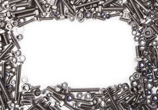 Nuts And Bolts Frame Royalty Free Stock Image