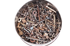 Nuts, bolts and screws Stock Image