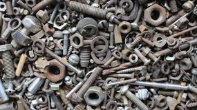 Nuts and bolts screws and washers stock photography