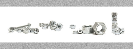 Nuts and Bolts Seamless Border Stock Image