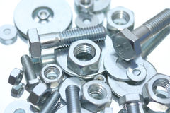 Nuts, bolts and washers Stock Photos