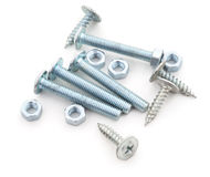 Nuts and bolts. Royalty Free Stock Photo