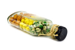 Nuts in the bottle Stock Image