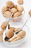 Nuts in bowl Stock Photography