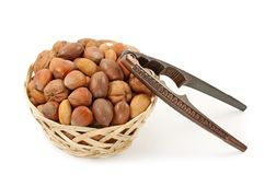 Nuts in bowl Stock Image