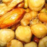 Nuts brittle closeup Stock Photo