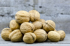 Nuts in bulk. A lot of nuts in bulk royalty free stock photography