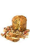 Nuts and cake royalty free stock photos
