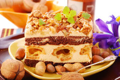 Nuts cake Stock Photos