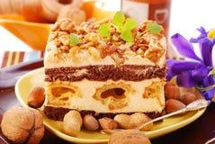 Nuts cake Stock Photos