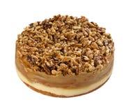 Nuts Cake Isolated On White Stock Image