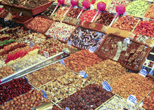 Nuts and candy Royalty Free Stock Images