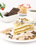 Nuts and caramel cake Royalty Free Stock Photography
