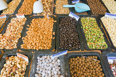 Nuts and cereals Royalty Free Stock Image
