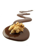 Nuts and chocolate Royalty Free Stock Photography