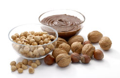 Nuts and chocolate assorted Stock Photo