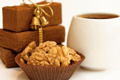 Nuts and coffee Stock Image