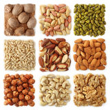 Nuts Collection Royalty Free Stock Photos
