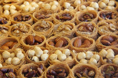 Nuts confectionary stock photography