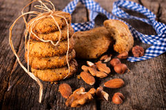 Nuts cookies Stock Images