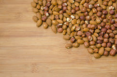 Nuts in the corner Royalty Free Stock Photo
