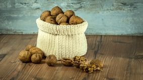 Nuts, Crop, Bag, Brown, Health Royalty Free Stock Photo