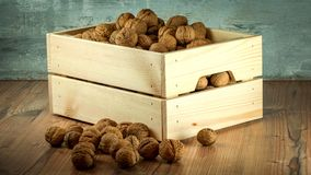 Nuts, Crop, Wooden, Crate Stock Photo
