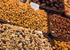 Nuts on Display Stock Photo