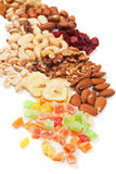 Nuts and dried fruit Royalty Free Stock Image