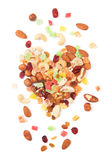 Nuts and dried fruit Royalty Free Stock Photo
