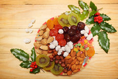 Nuts and dried fruit Stock Image