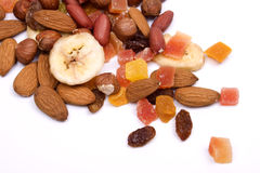 Nuts and dried fruit Royalty Free Stock Photography
