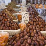 Nuts and dried fruit for sale in the souk of Fes, Morocco Royalty Free Stock Photo