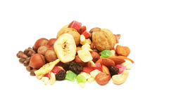 Nuts and dried fruits. Stock Image