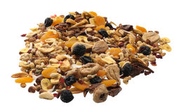 Nuts and Dried fruits collection Royalty Free Stock Photo