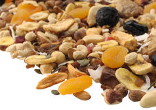 Nuts and Dried fruits collection Royalty Free Stock Image